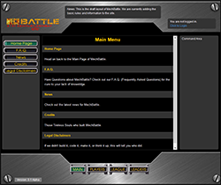 MechBattle main screen screenshot